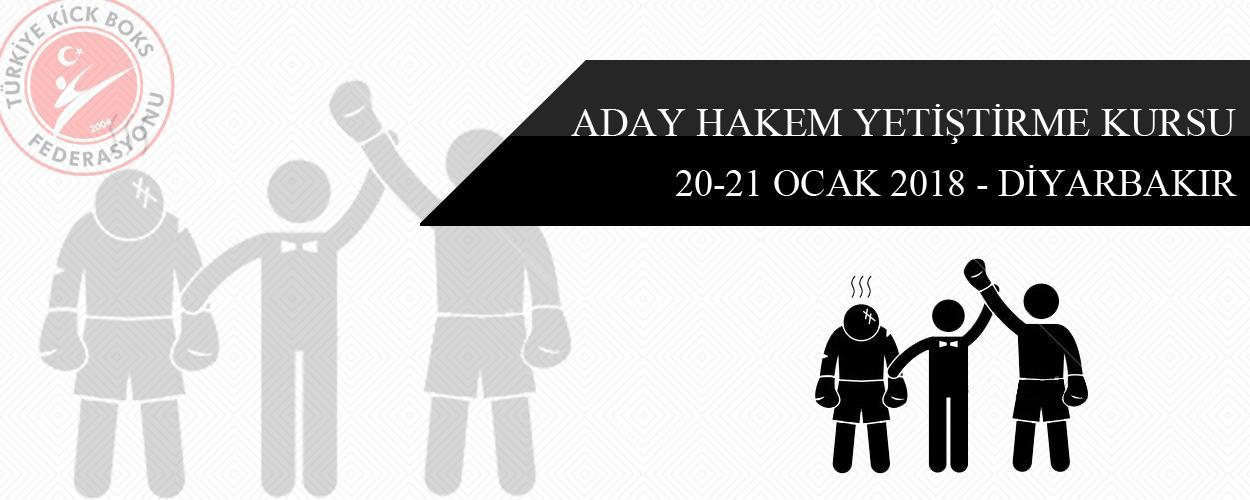 Aday Hakem Yetiştirme Kursu - 20-21 Ocak 2018 - DİYARBAKIR