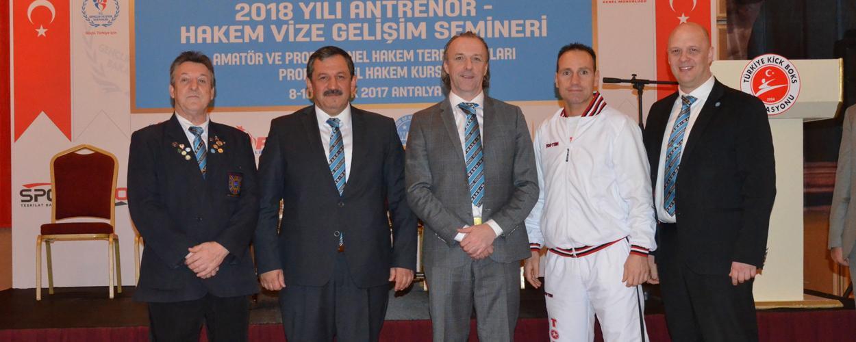 2018 Yılı Antrenör ve Hakem Semineri Sona Erdi