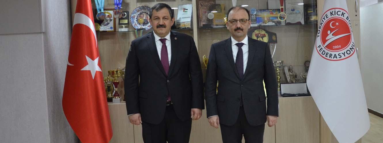 Bartın Valisi Sayın Sinan GÜNER Federasyon Başkanımız Sayın Salim KAYICI' yı Ziyaret Etti