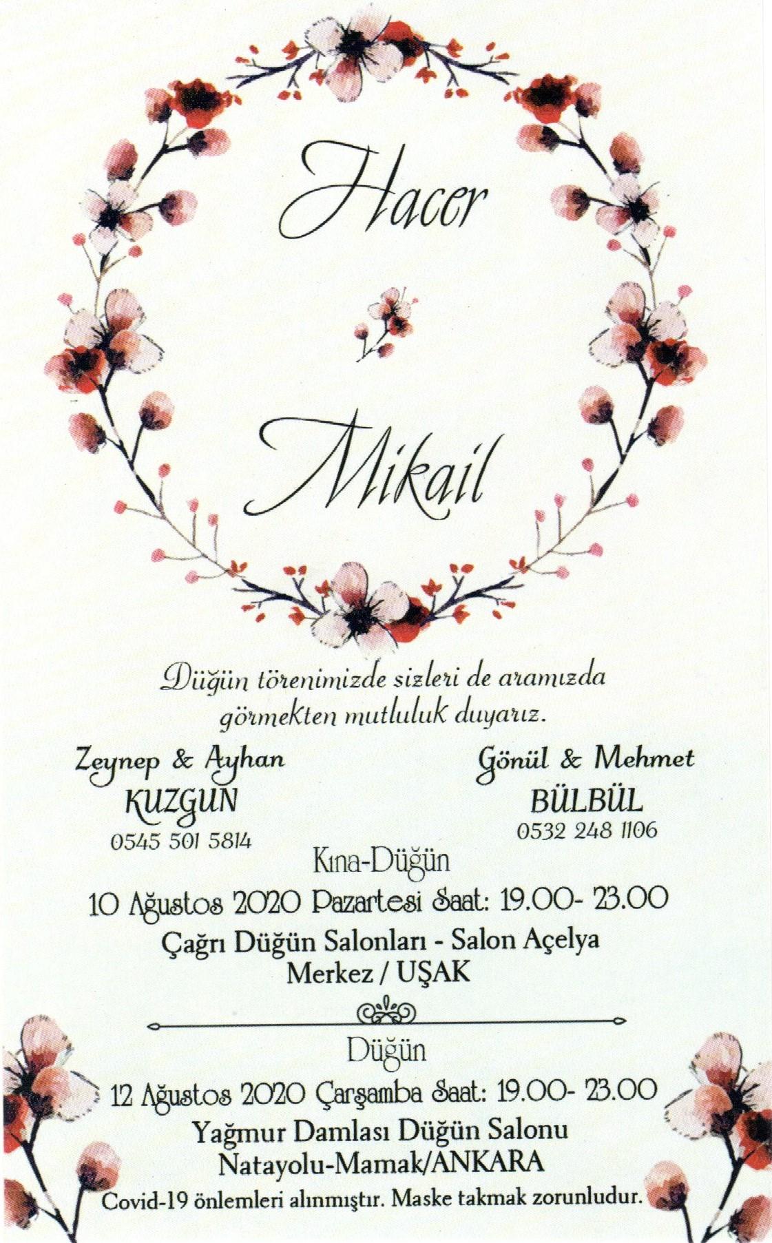 Milli Takım Antrenörümüz Mikail BÜLBÜL Evleniyor