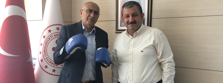 Federasyon Başkanımızdan Sayın Mustafa ELDURAN' a Ziyaret