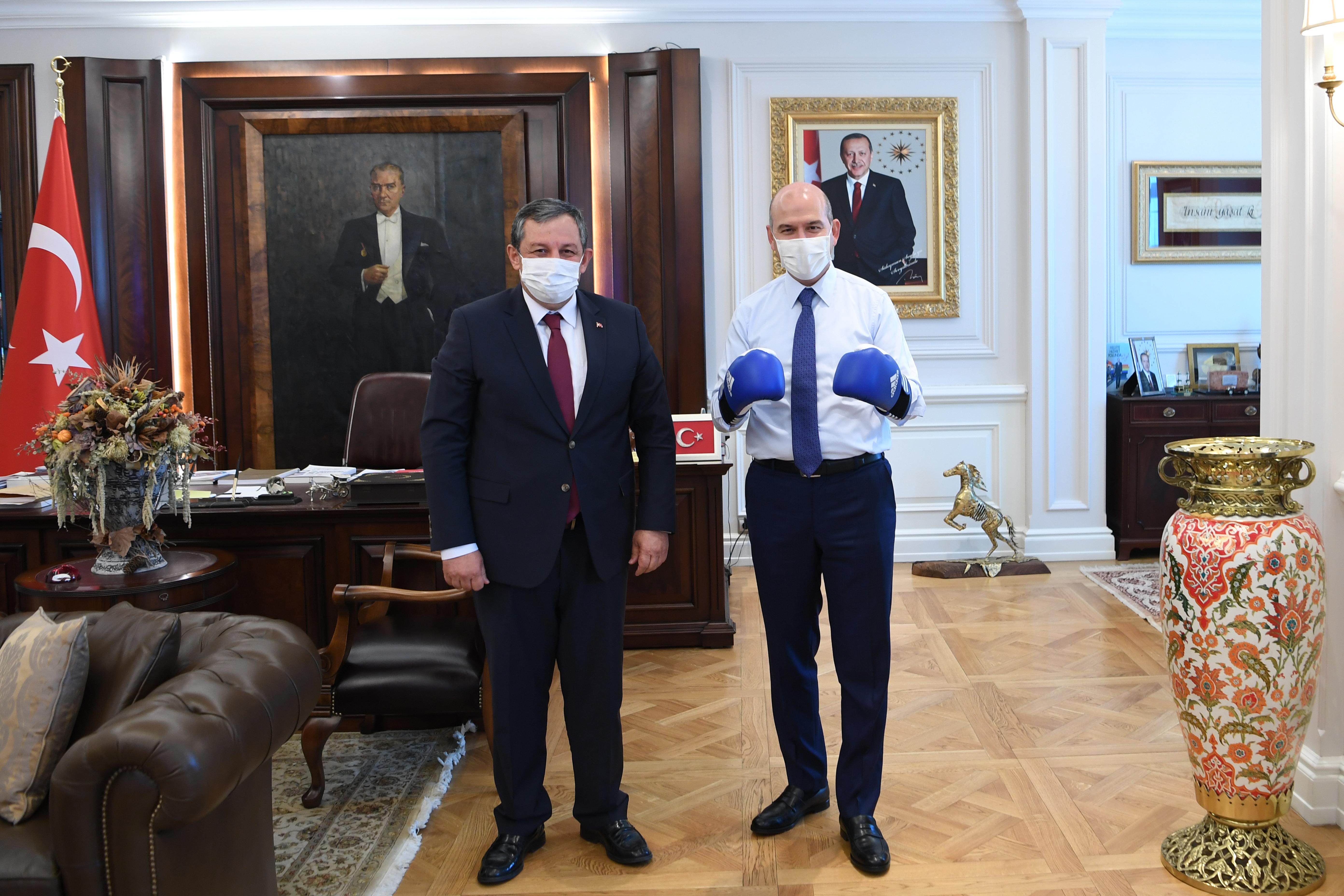 Federasyon Başkanımızdan İçişleri Bakanımıza Ziyaret