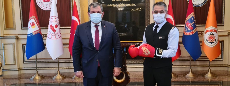 Federasyon Başkanımızdan Jandarma ve Sahil Güvenlik Akademisi Başkanlığı' na Ziyaret