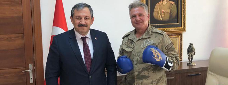 Federasyon Başkanımızdan Foça Jandarma Komando Okulu' nu Ziyaret