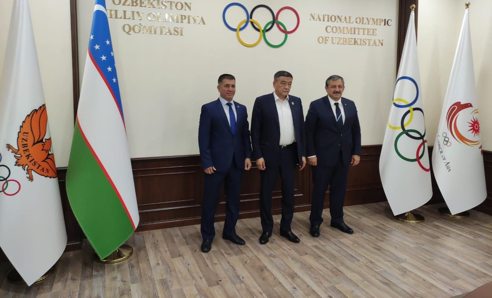 Federasyon Başkanımızdan Özbekistan Milli Olimpiyat Komitesine Ziyaret