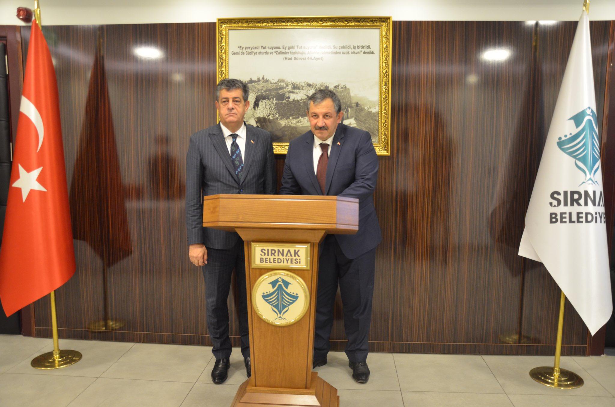 Federasyon Başkanımızdan Şırnak Belediye Başkanına Ziyaret