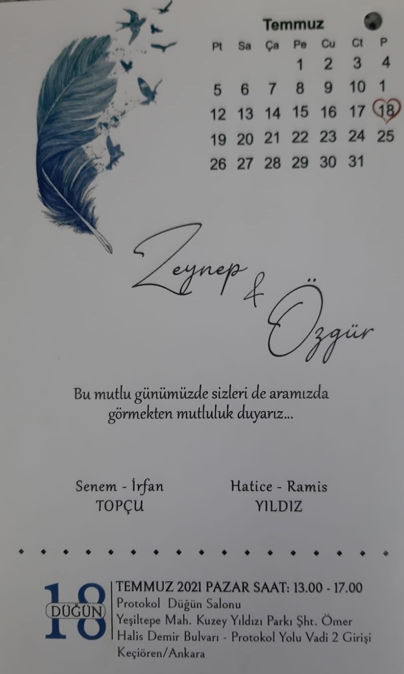 Uluslararası Hakemimiz Ramis YILDIZ' ın Oğlu Evleniyor